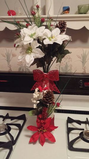Christmas flowers and bottle for Sale in St. Louis, MO