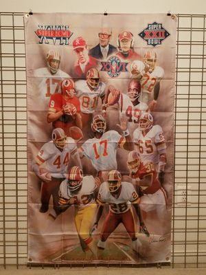 Washington Redskins Super Bowl Legends Banner NFL for Sale in Manassas, VA