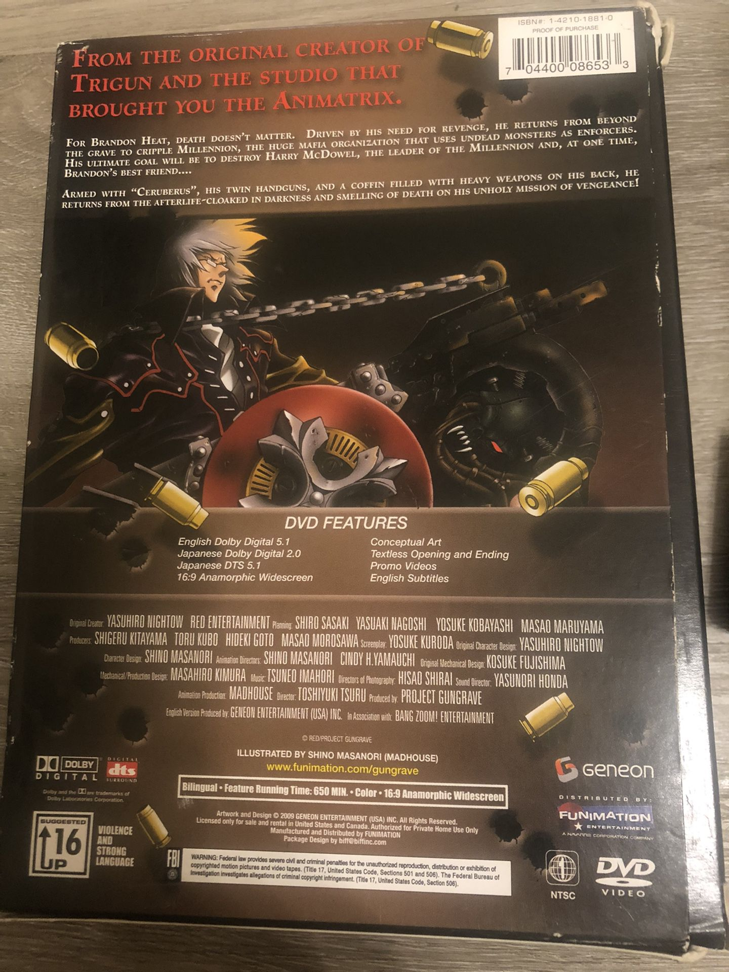 Gungrave Anime The Complete Series