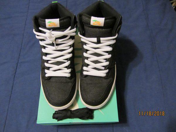 buy popular 8b5ea 5c6cf Nike SB Dunk High TRD QS Size 12 Momofuku Denim David Chang