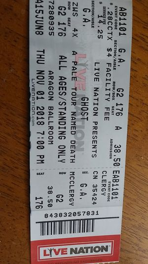 Ghost Concert tickets for Sale in Joliet, IL