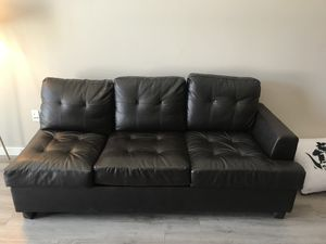 Modern comfy leather sofa for Sale in Denver, CO