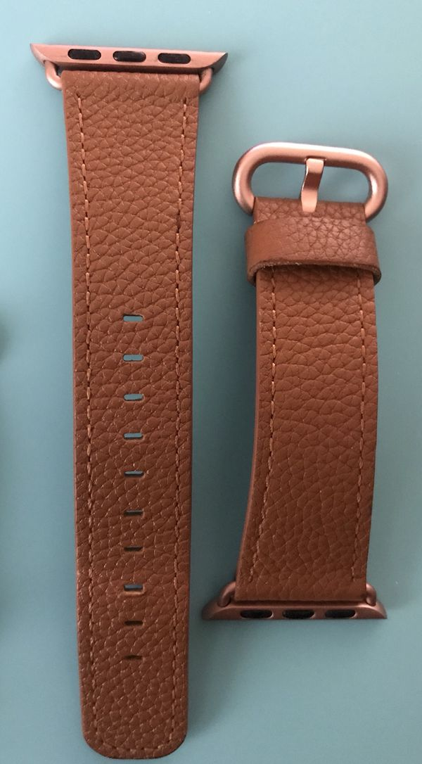 befcf62ac143 Brown and rose gold genuine leather 38mm iWatch band (Jewelry    Accessories) in Avondale