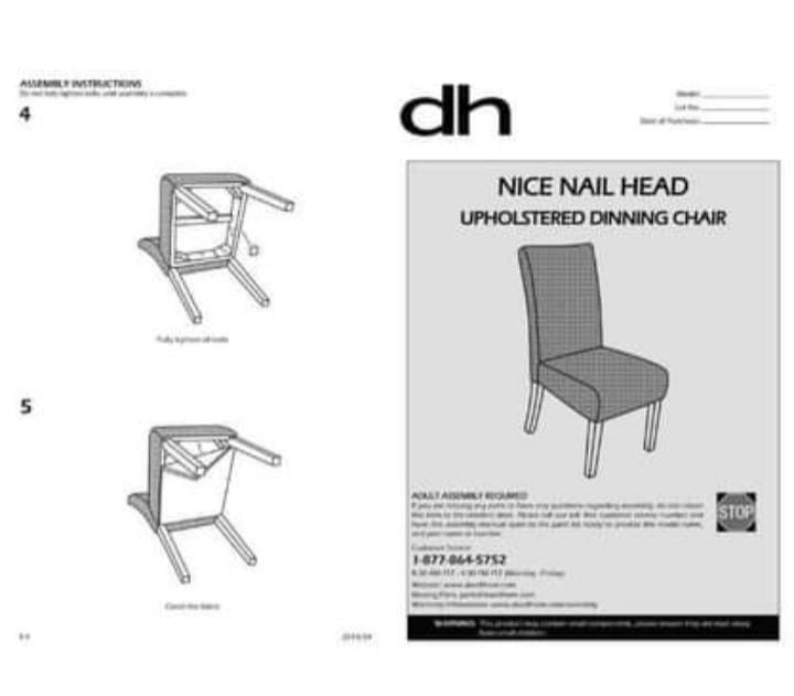 BRAND NEW DHI Nice Nail Head Upholstered Dining Chair, 2 Pack, Pebble Stone (Brown) DHIModel: DC-NC-YH96-14