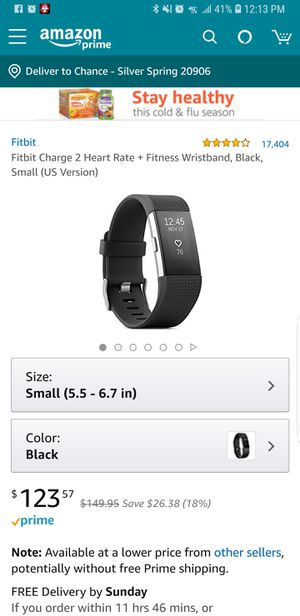 Fitbit Charge 2 HR Lightly used for Sale in Aspen Hill, MD