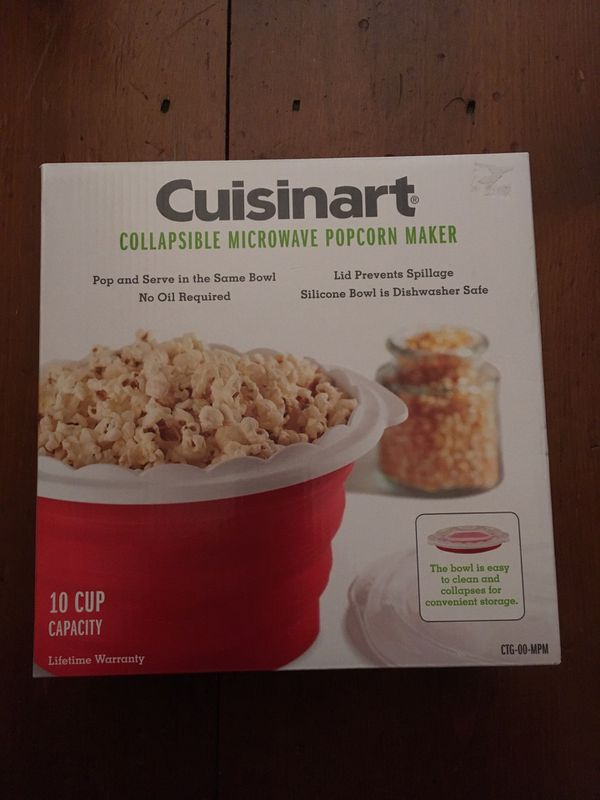 3d9072dd77e Cuisinart collapsible microwave popcorn maker for Sale in Bolton