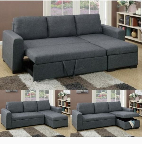 Brand new sectional pullout sofa bed with storage for Sale in Los ...