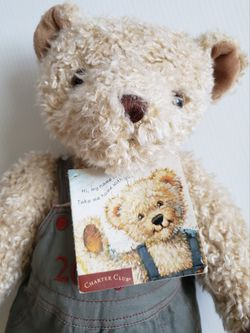 """Teddy Bear Plush Charter Club Federated Department Stores Macy's 16"""" 2000. Condition is Used  With Tags  Thumbnail"""