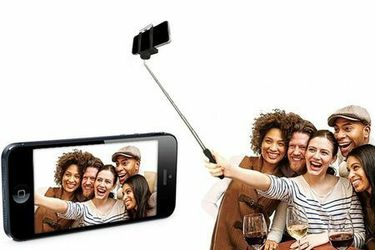 $3 each = NEW Selfie Stick for Cell Mobile Phone Picture Photo (Glow in Dark, Metallic, Design, Solid Color) Rue Tech Thumbnail