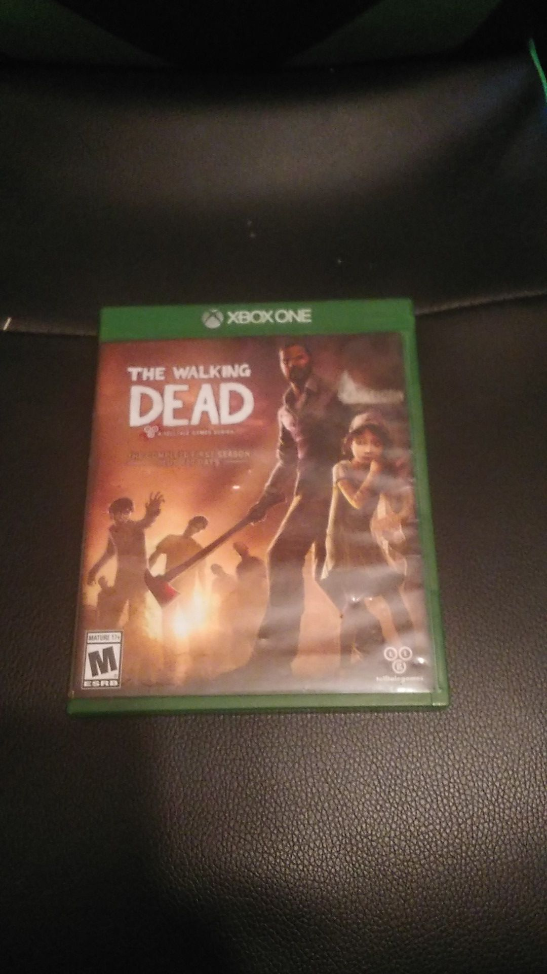 Xbox one the walking dead game. Name writtent on back.