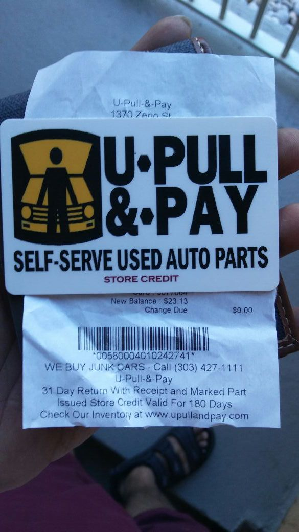 Upull And Pay Card With 23 For Sale In Denver Co Offerup