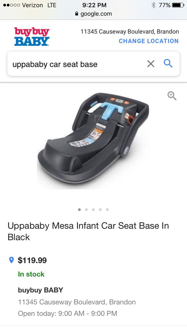 Uppababy Mesa Car Seat Base For Sale In Gulfport FL