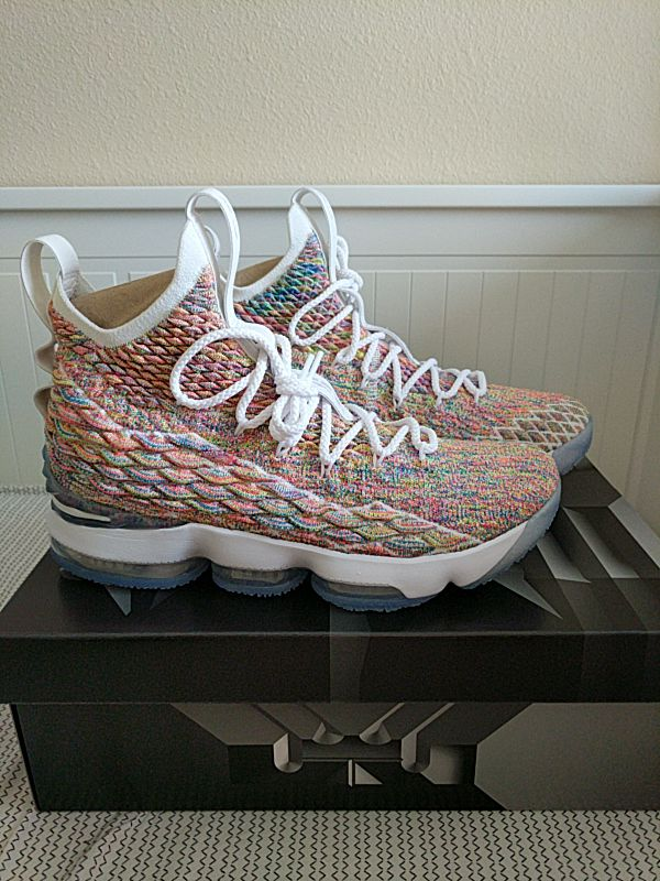 dd78b6e6f8cc49 Nike LeBron 15 Cereal size 10 (Fruity pebbles multi) for Sale in ...