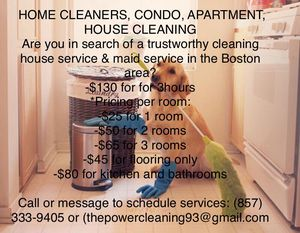 Cleaning for Sale in Boston, MA