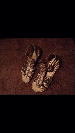 Beautiful gold gladiator sandals for Sale in Scottsdale, AZ