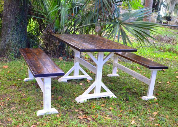 farm house shabby chic picnic table for sale in belleview fl offerup