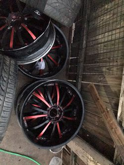 22 inch 5 lug universal or trade for speakers Thumbnail
