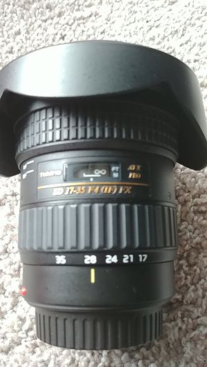 Canon Camera 17-35mm F4 Full Frame EF Pro Lens by Tokina for Sale in Plano, TX