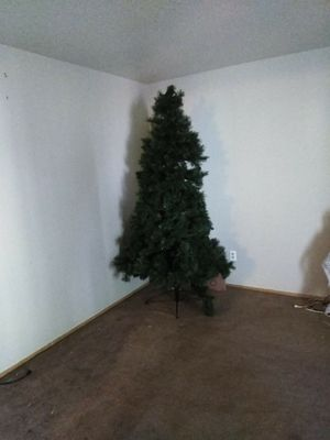7ft Christmas Tree (pre lit) and Antique Cabinet for Sale in Portland, OR