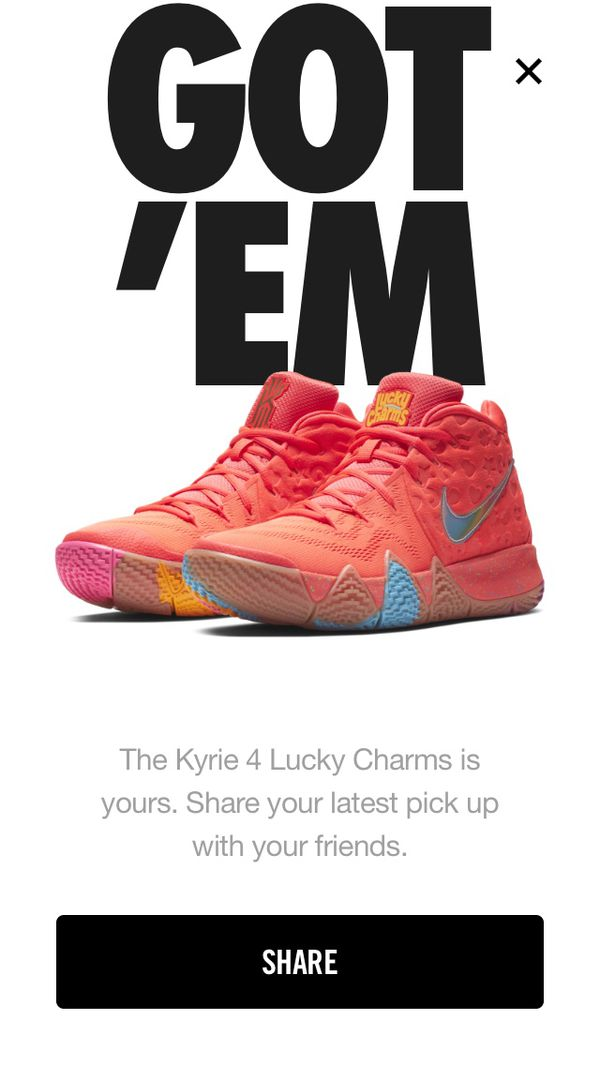 new style d7758 8f679 Kyrie 4s lucky charms and kix for Sale in Pflugerville, TX - OfferUp