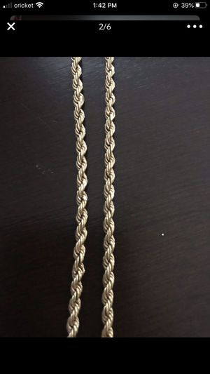 Photo 18K+ High Purity Saudi Gold Necklace/Rope Chain