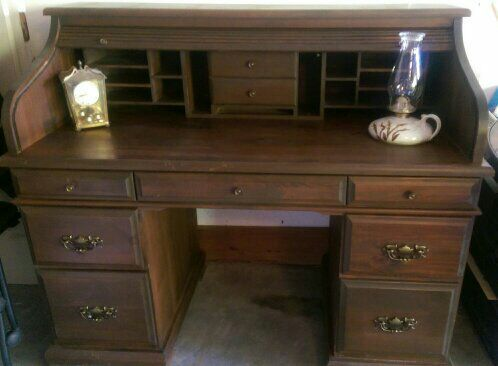 Antique mahogany roll top desk - Antique Mahogany Roll Top Desk For Sale In Kansas City, MO - OfferUp