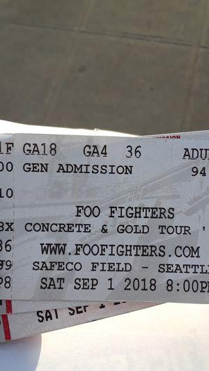 FOO FIGHTERS GA FLOOR for Sale in Seattle, WA