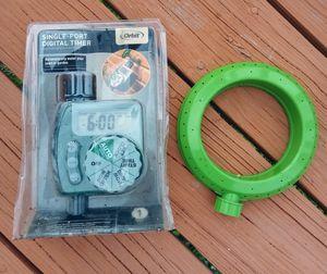Digital Outdoor Sprinkler Timer and Sprinklers for Sale in Galveston, TX