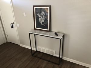 san francisco 13a92 3b43b West Elm - Streamline Console Table - Marble for Sale in Denver, CO -  OfferUp