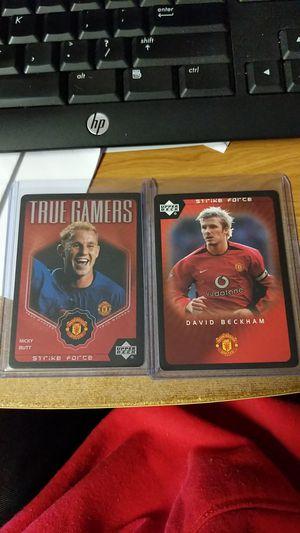 Photo 2003 Upper Deck Strike Force Manchester United David Beckham and Nicky Butt 2 card lot