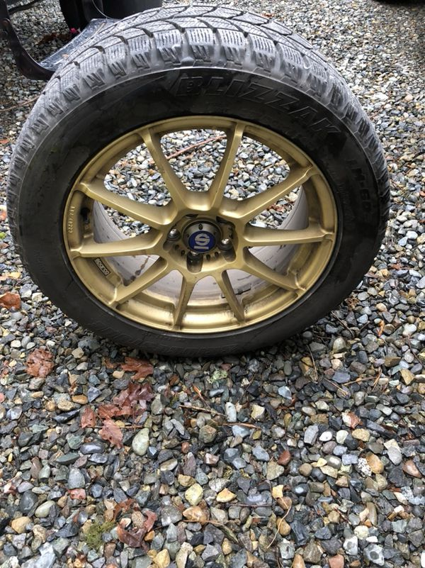 Sparko wheel with snow tires 235/50/17 Bridgestone blizzak tires ...