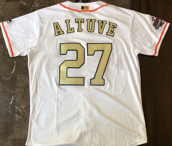 pretty nice fdbcb 1dad3 Jose Altuve Houston Astros GOLD jersey for Sale in Castro Valley, CA -  OfferUp