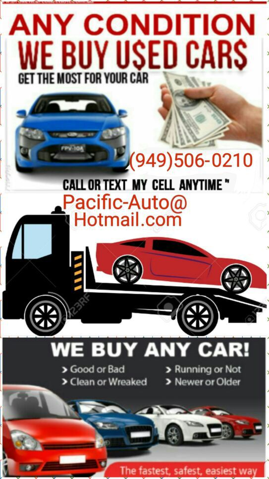 We Buy Cars $ good & junk cars $ cash for cars $$ compro carros ...