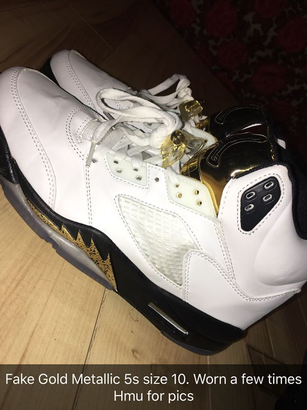 442616bd9cbb Air Jordan 5 Gold Metallic size 10 for Sale in Southington