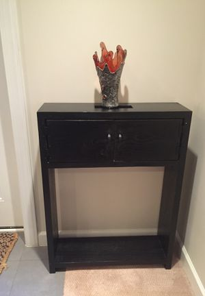 Console table dark wood narrow for Sale in Alexandria, VA
