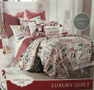 Christmas Quilt Full/Queen for Sale in Jacksonville, FL