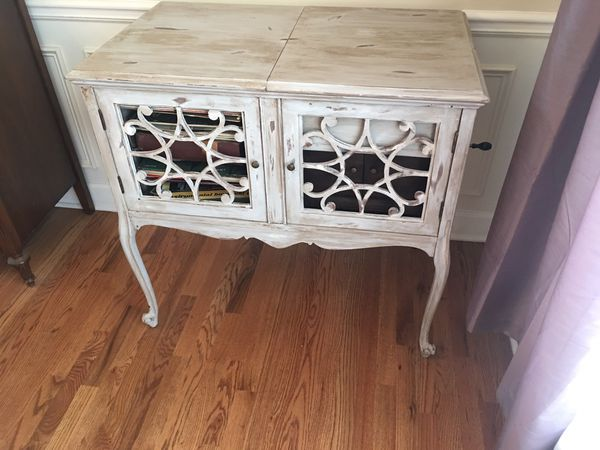 Distressed Victrola Cabinet With Working Victrola For Sale In