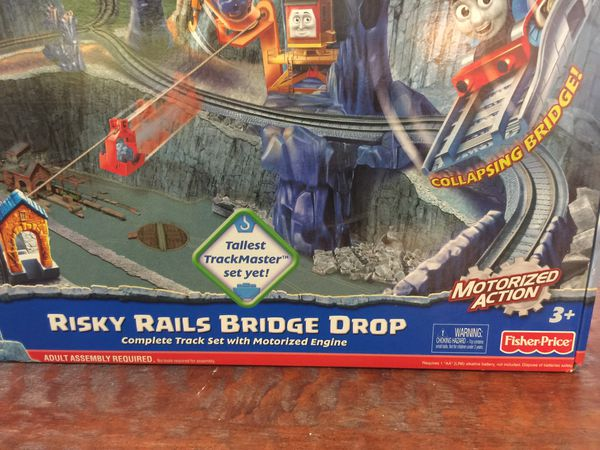 Risky Rails Bridge Drop Playset Opened Oror