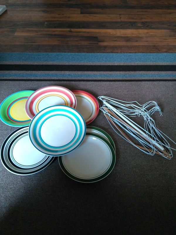 7 Dinner plates and wire hangers (Household) in Albuquerque, NM ...
