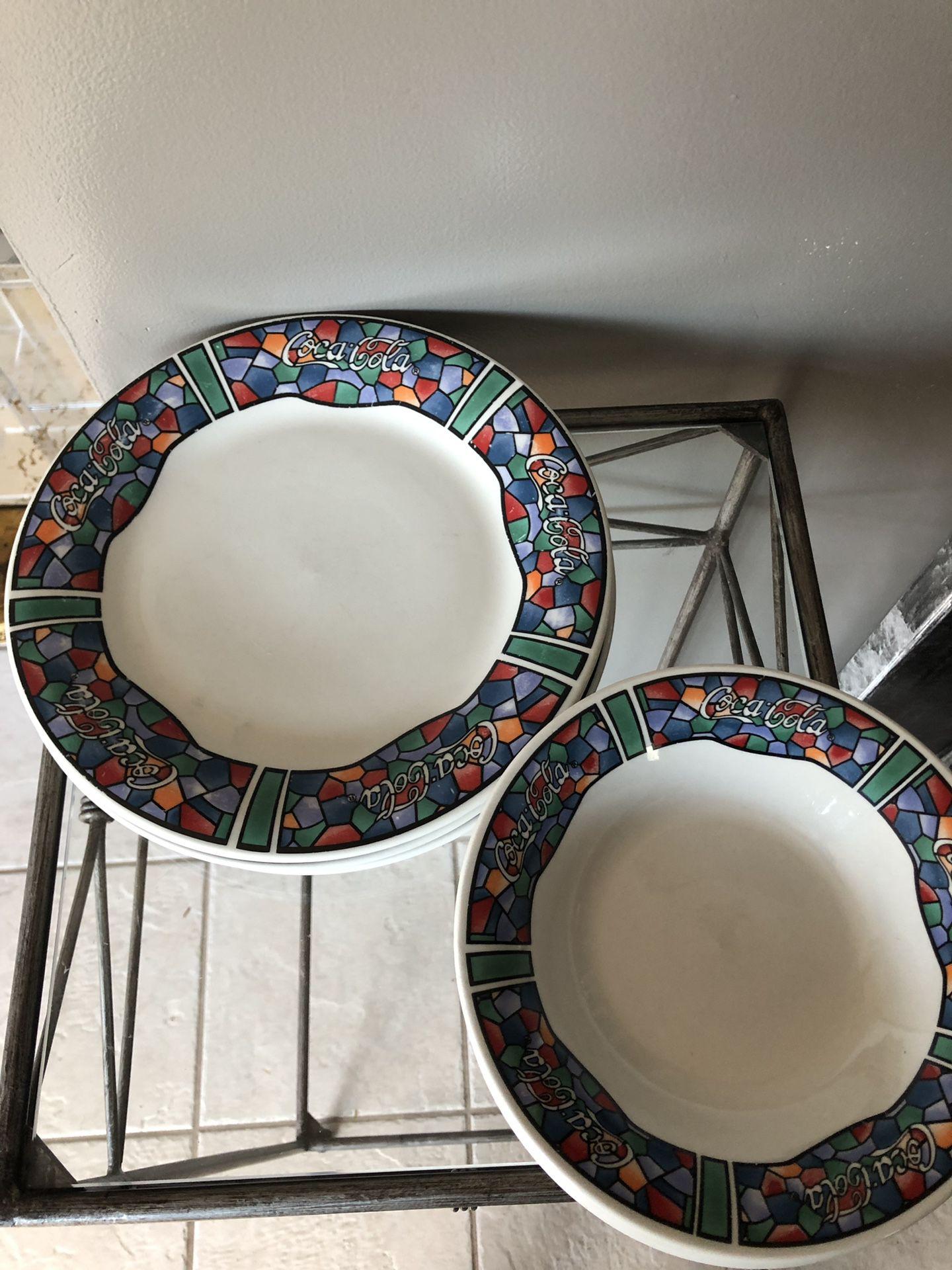 Coca Cola plates