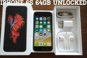 Gray Iphone 6S UNLOCKED 64GB w/ Box & Accessories for Sale in Arlington, VA