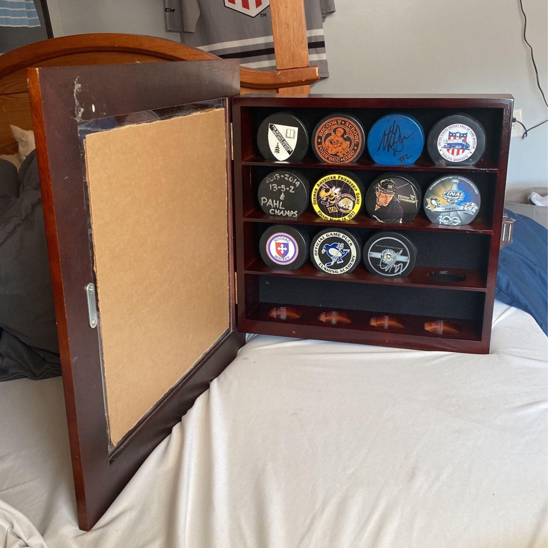 hockey puck display case