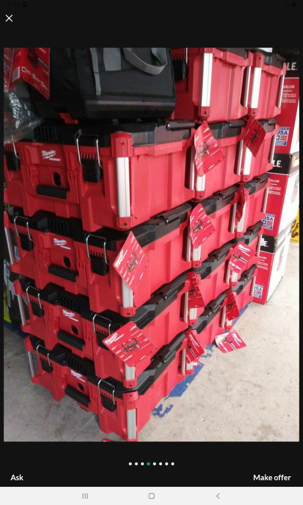 MILWAUKEE PACK OUT TOOL BOX BRAND NEW EACH
