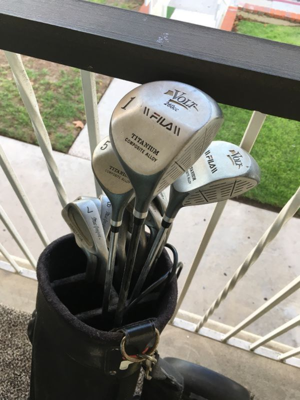 3fbdb664d98a Golf clubs fila with caddy 25 bucks need cleaning for Sale in Chula ...