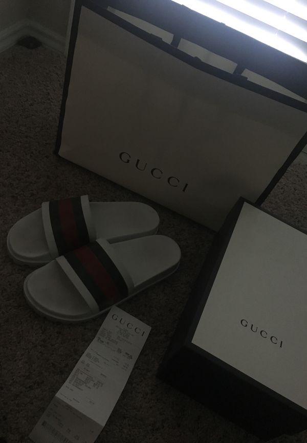 3e4fabbc9 Size 12 White Gucci Flip Flops for Sale in Orlando