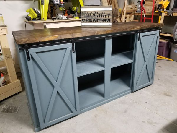 Farmhouse Entertainment Center By Pallet Creators For Sale In Haines City FL