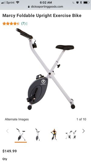 Marcy Foldable Upright Exercise Bike for Sale in Duluth, GA