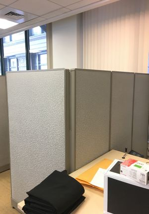 Set of three grey office cubicles for Sale in Boston, MA