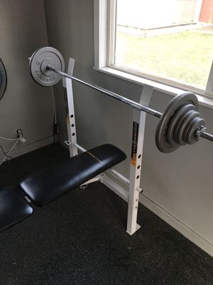 Bench and 120 lbs of weight! for Sale in South Salt Lake, UT