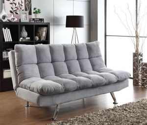 New Plush Sofa Bed Futon In Grey For Chicago Il